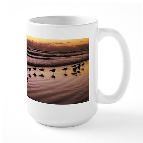Birds at the Shore Large Mug
