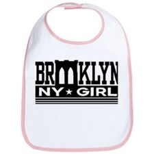 Brooklyn NY Girl Bib