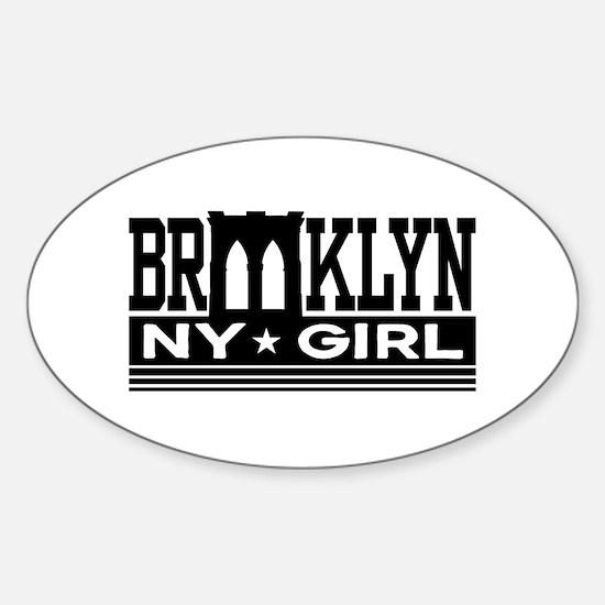 Brooklyn NY Girl Sticker (Oval)