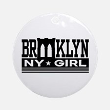 Brooklyn NY Girl Ornament (Round)