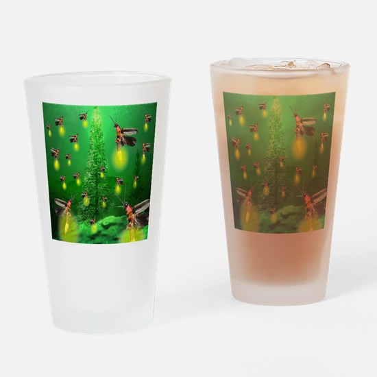 Firefly Christmas Tree Drinking Glass