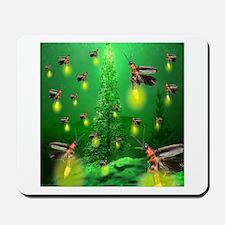 Firefly Christmas Tree Mousepad