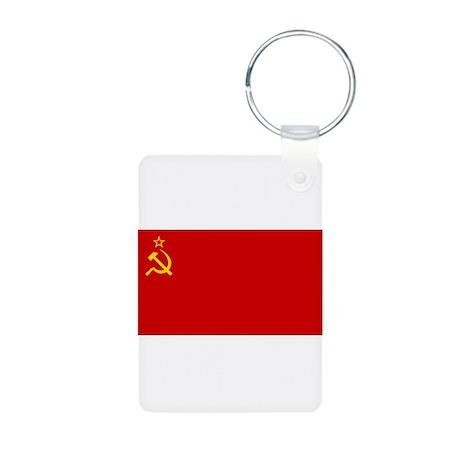 Flag of the Soviet Union Aluminum Photo Keychain