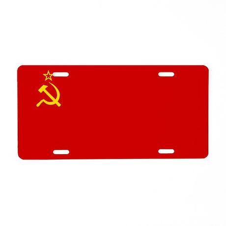 Flag of the Soviet Union Aluminum License Plate