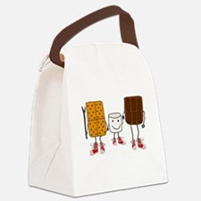 Funny Camping Canvas Lunch Bag