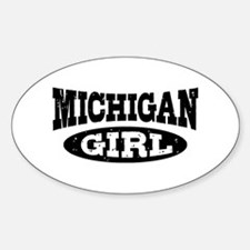 Michigan Girl Sticker (Oval)
