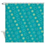 Asterisk-a-thon Blue Shower Curtain