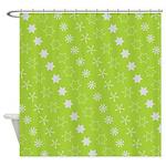 Asterisk-a-thon Green Queen Duvet Shower Curtain
