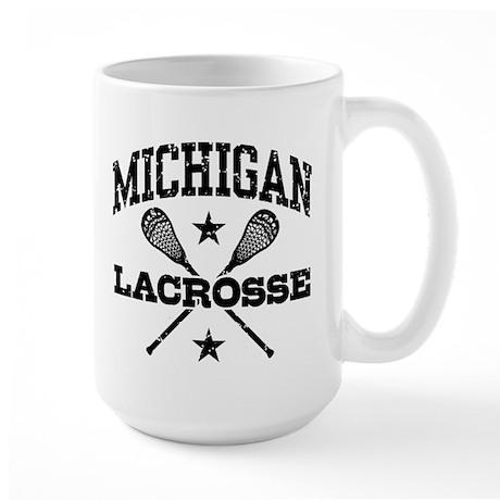 Michigan Lacrosse Large Mug
