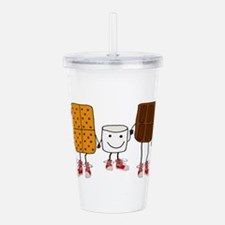 Funny Smores Camping C Acrylic Double-wall Tumbler