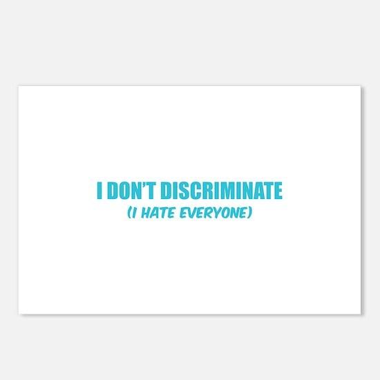 I don't discriminate Postcards (Package of 8)