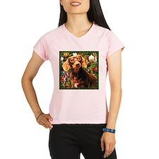 Christmas Dachshund Performance Dry T-Shirt