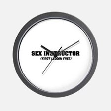 Sex instructor Wall Clock