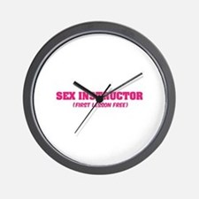 Sex instructor Wall Clock