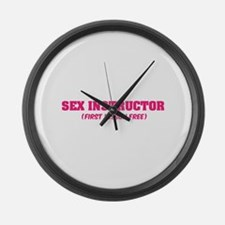 Sex instructor Large Wall Clock