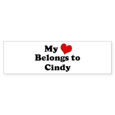 My Heart: Cindy Bumper Sticker