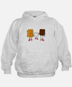 Funny Smores Camping Cartoon Sweatshirt
