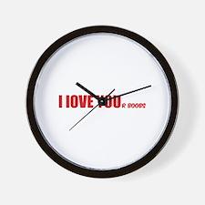 I LOVE YOUr boobs Wall Clock