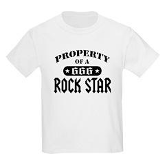 Property of a Rock Star Kids T-Shirt