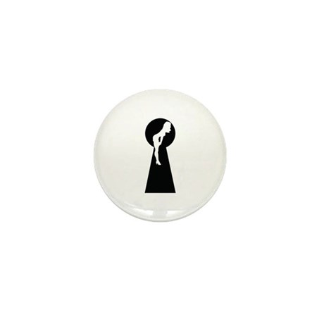 Sexy girl keyhole Mini Button (10 pack)
