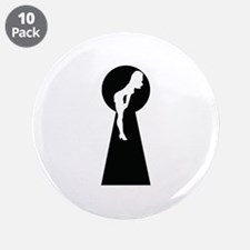"""Sexy girl keyhole 3.5"""" Button (10 pack)"""