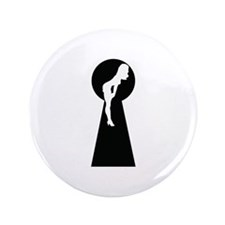 """Sexy girl keyhole 3.5"""" Button (100 pack)"""
