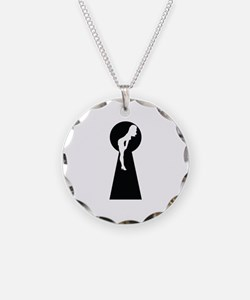 Sexy girl keyhole Necklace