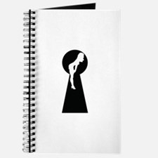 Sexy girl keyhole Journal