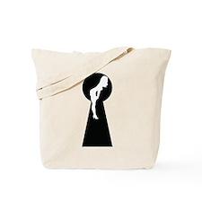 Sexy girl keyhole Tote Bag