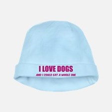 I love dogs baby hat