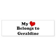 My Heart: Geraldine Bumper Bumper Sticker