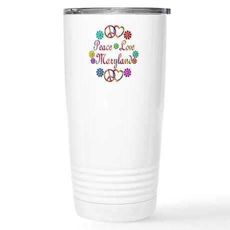Peace Love Maryland Stainless Steel Travel Mug