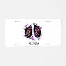 xray specs Aluminum License Plate