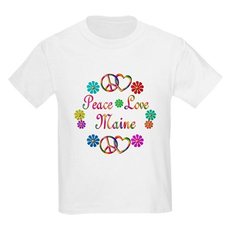 Peace Love Maine Kids Light T-Shirt