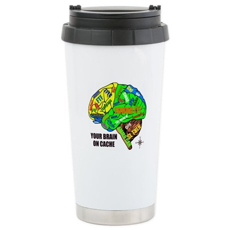 Your Brain on Cache Stainless Steel Travel Mug