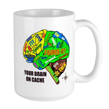 Your Brain on Cache Large Mug