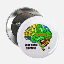 """Your Brain on Cache 2.25"""" Button"""