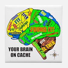 Your Brain on Cache Tile Coaster