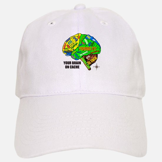 Your Brain on Cache Baseball Baseball Cap