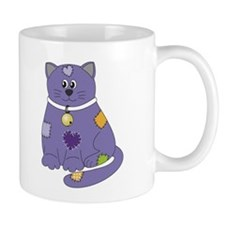 Purple Cloth Cat Mug