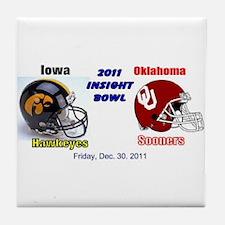 Funny Oklahoma sooners Tile Coaster