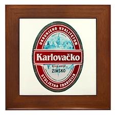 Croatia Beer Label 1 Framed Tile