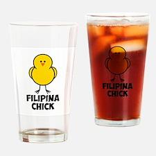 Filipina Chick Drinking Glass