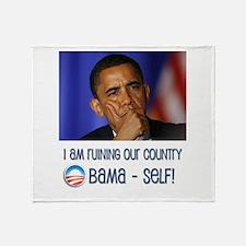 Funny Nobama Throw Blanket