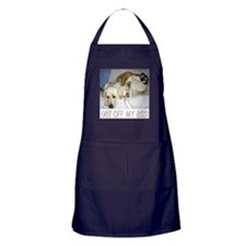 Funny Fighting dogs Apron (dark)