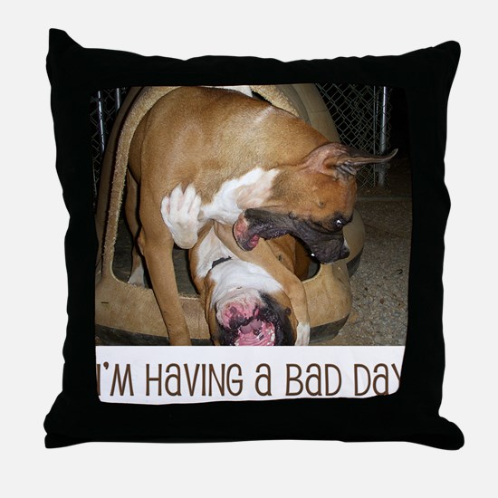Unique Fighting dogs Throw Pillow