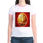 Jesus Loves Me -Cross - Jr. Ringer T-Shirt