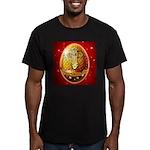 Jesus Loves Me - Cross-Men's Fitted T-Shirt (dark)