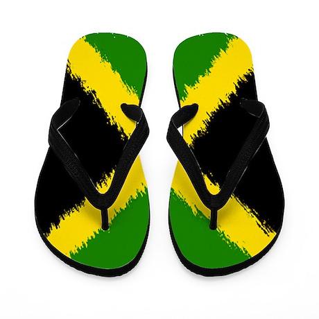 Flag of Jamaica Flip Flops