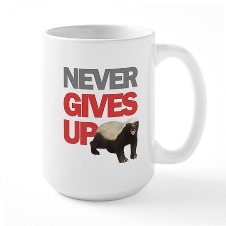 Honey Badger Don't Care Large Mug